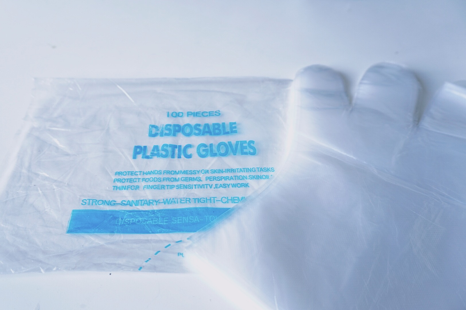 Disposable gloves foil gloves 100 pcs pack