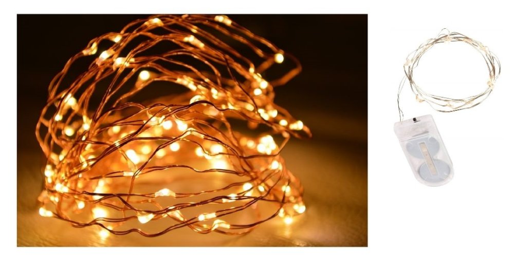 10 micro-LED light swing wire lighting, copper